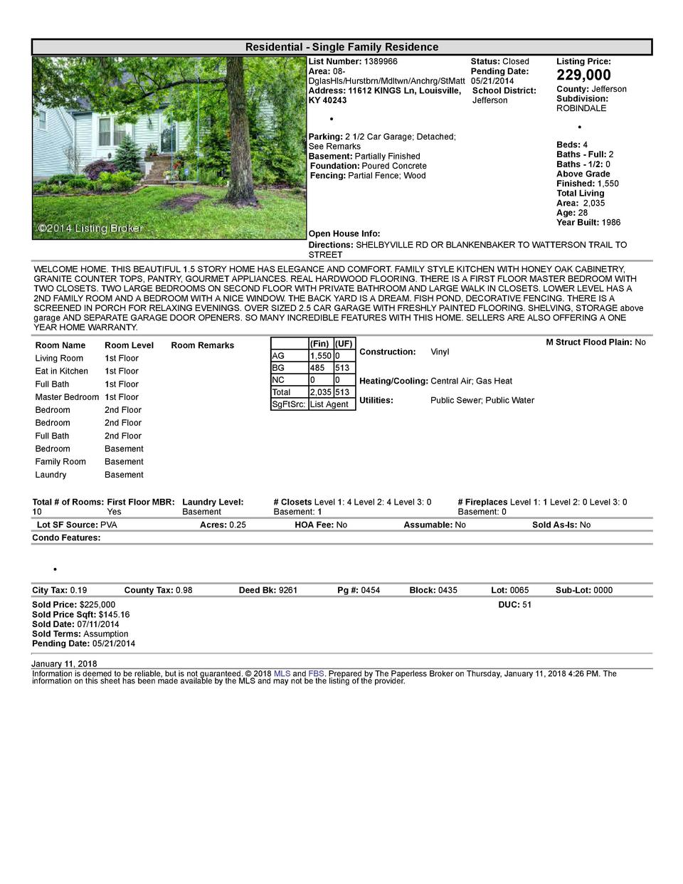 Residential      Single  Family  Residence List  Number   1389966    Status   Closed Area   08   Pending  Date  DglasHl...