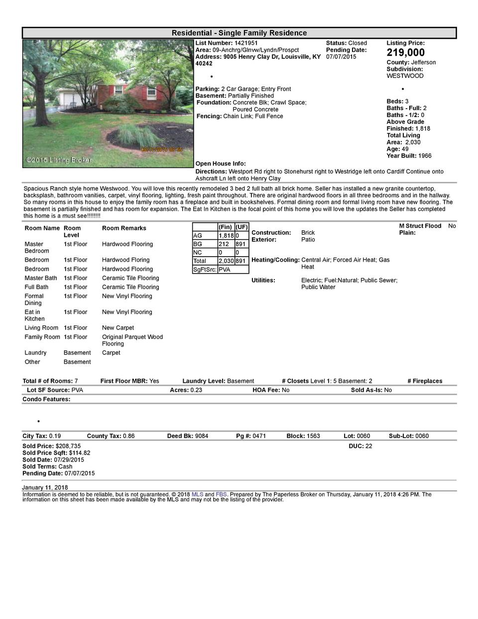 Residential      Single  Family  Residence List  Number   1421951    Status   Closed Area   09  Anchrg Glnvw Lyndn Pros...