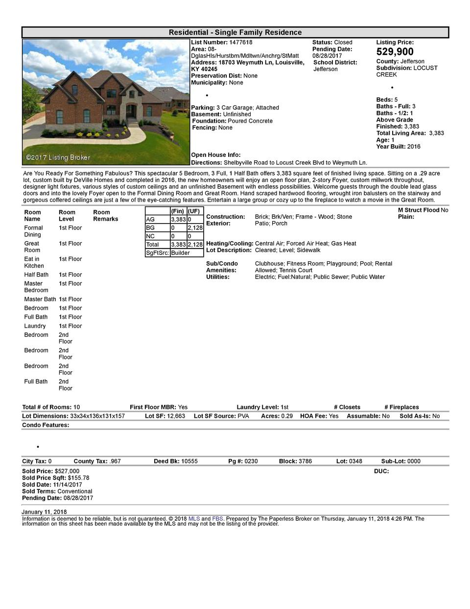 Residential      Single  Family  Residence List  Number   1477618    Status   Closed Area   08   Pending  Date  DglasHl...