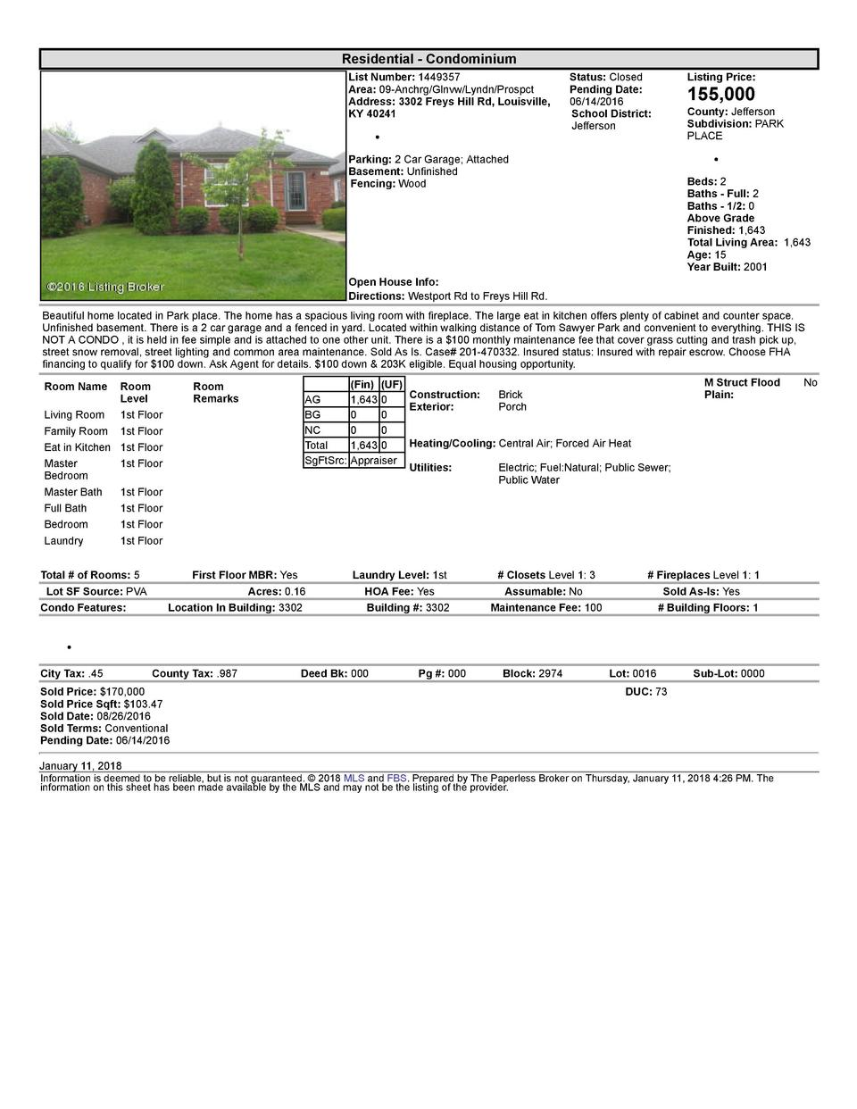 Residential      Condominium List  Number   1449357 Area   09  Anchrg Glnvw Lyndn Prospct Address   3302  Freys  Hill  ...