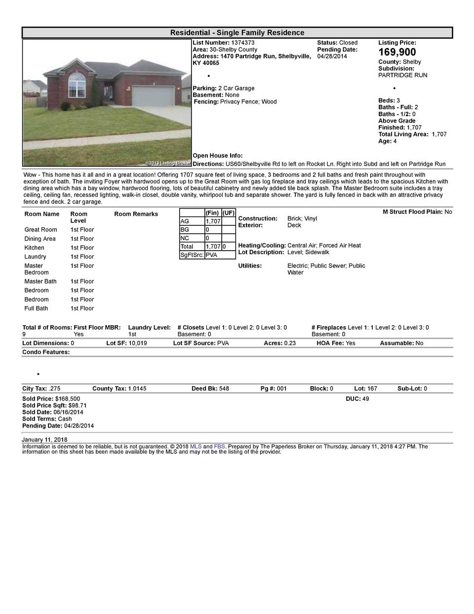 Residential      Single  Family  Residence List  Number   1374373    Status   Closed Area   30  Shelby  County Pending ...