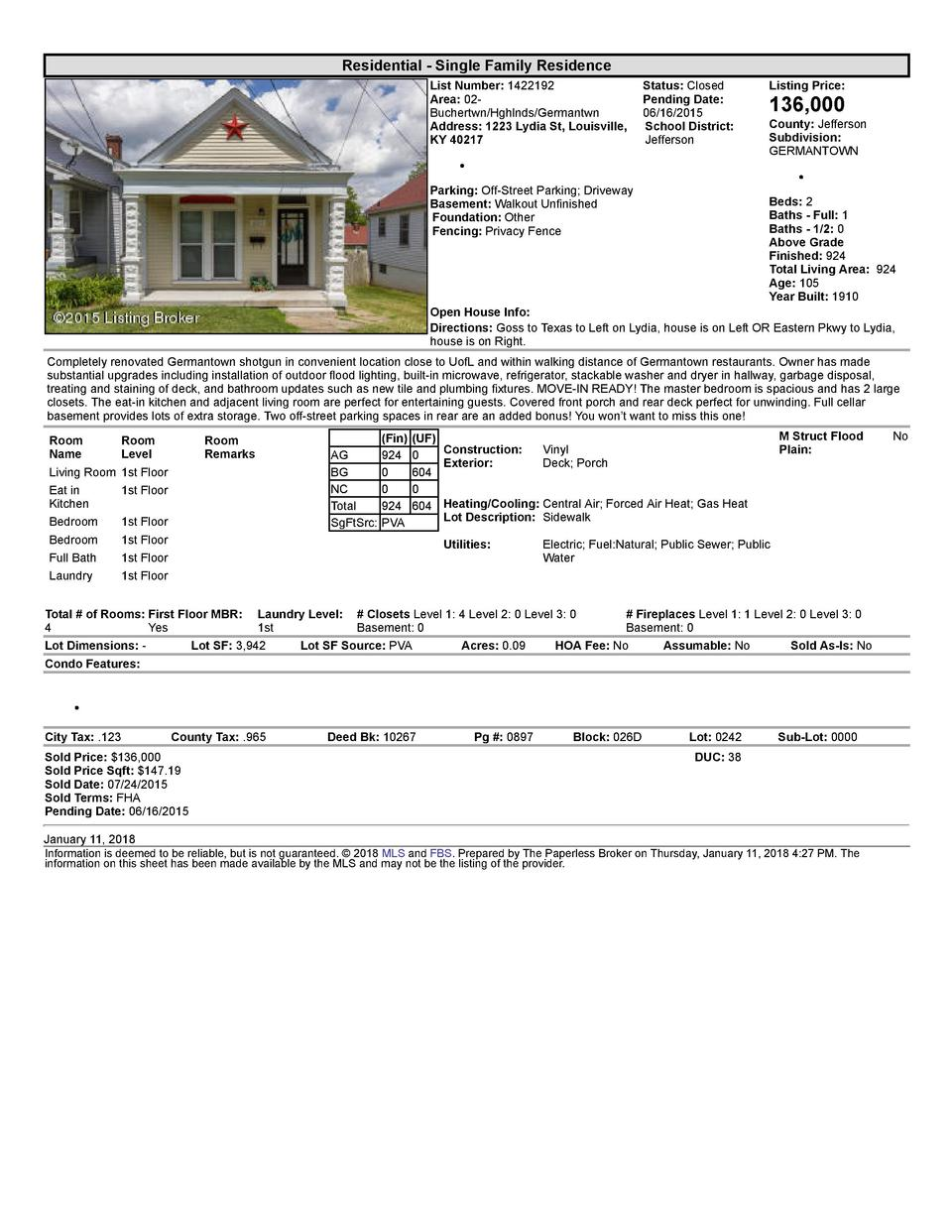 Residential      Single  Family  Residence List  Number   1422192    Status   Closed Area   02   Pending  Date  Buchert...