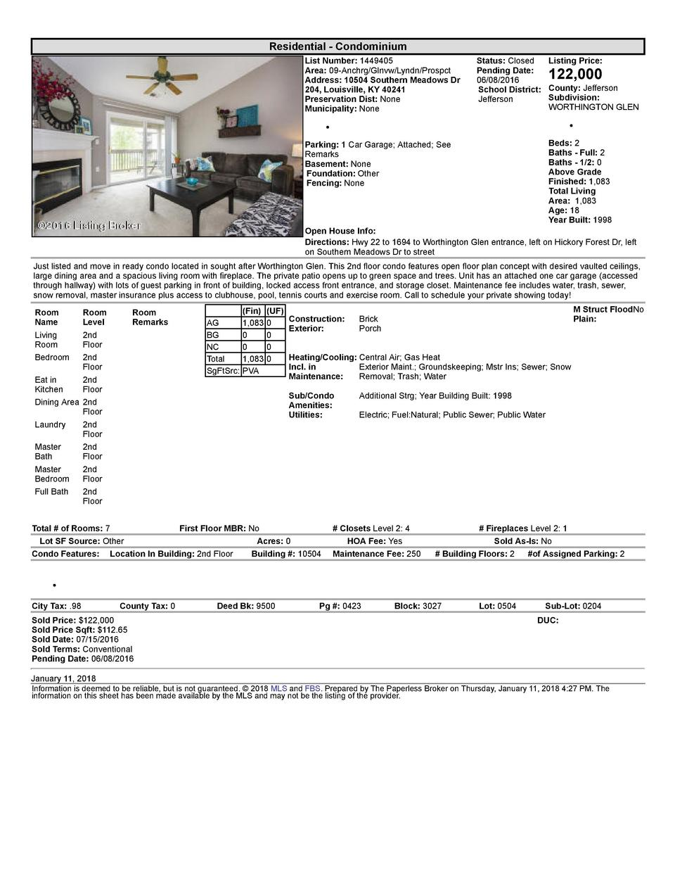 Residential      Condominium List  Number   1449405 Area   09  Anchrg Glnvw Lyndn Prospct Address   10504  Southern  Me...