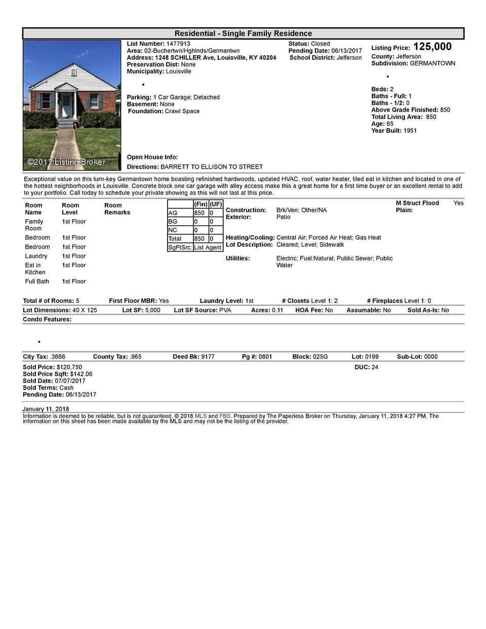 Residential      Single  Family  Residence List  Number   1477913    Area   02  Buchertwn Hghlnds Germantwn Address   1...