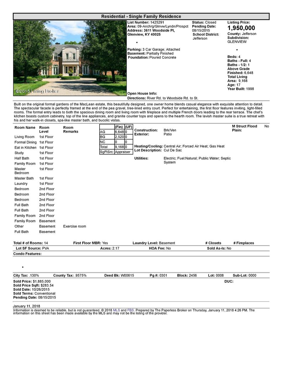 Residential      Single  Family  Residence List  Number   1425291    Status   Closed Area   09  Anchrg Glnvw Lyndn Prospct...