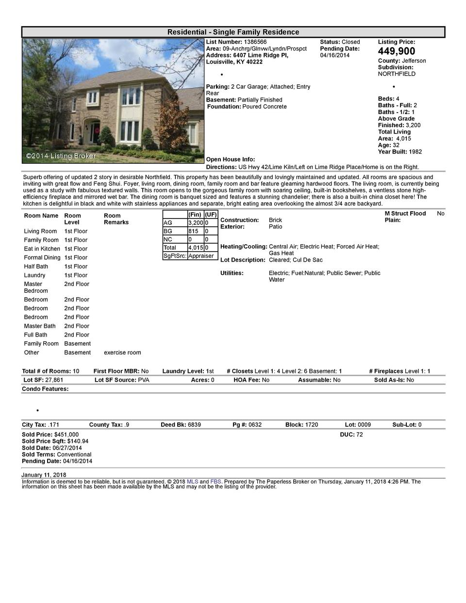 Residential      Single  Family  Residence List  Number   1386566 Area   09  Anchrg Glnvw Lyndn Prospct Address   6407 ...