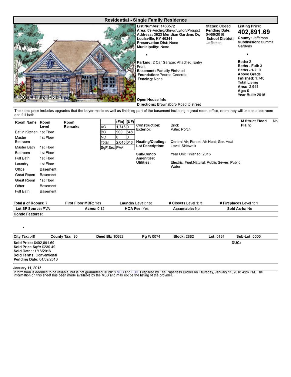 Residential      Single  Family  Residence List  Number   1463572 Area   09  Anchrg Glnvw Lyndn Prospct Address   3623 ...