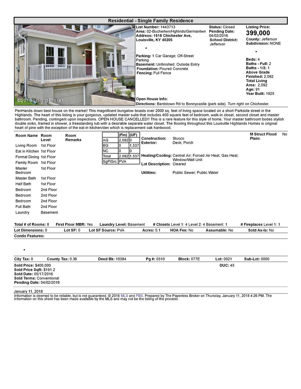 Residential      Single  Family  Residence List  Number   1443713    Status   Closed Area   02  Buchertwn Hghlnds Germa...