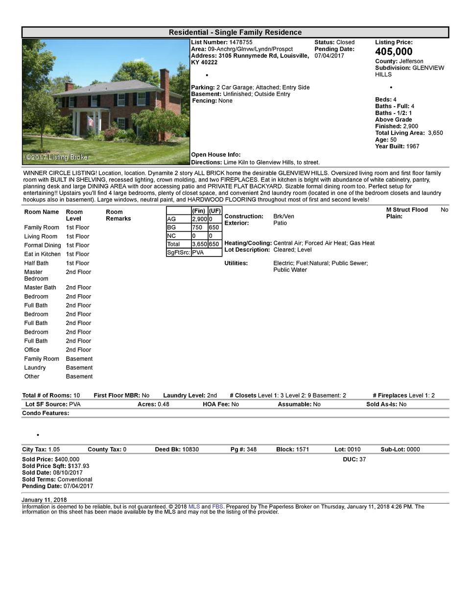 Residential      Single  Family  Residence List  Number   1478755    Status   Closed Area   09  Anchrg Glnvw Lyndn Pros...