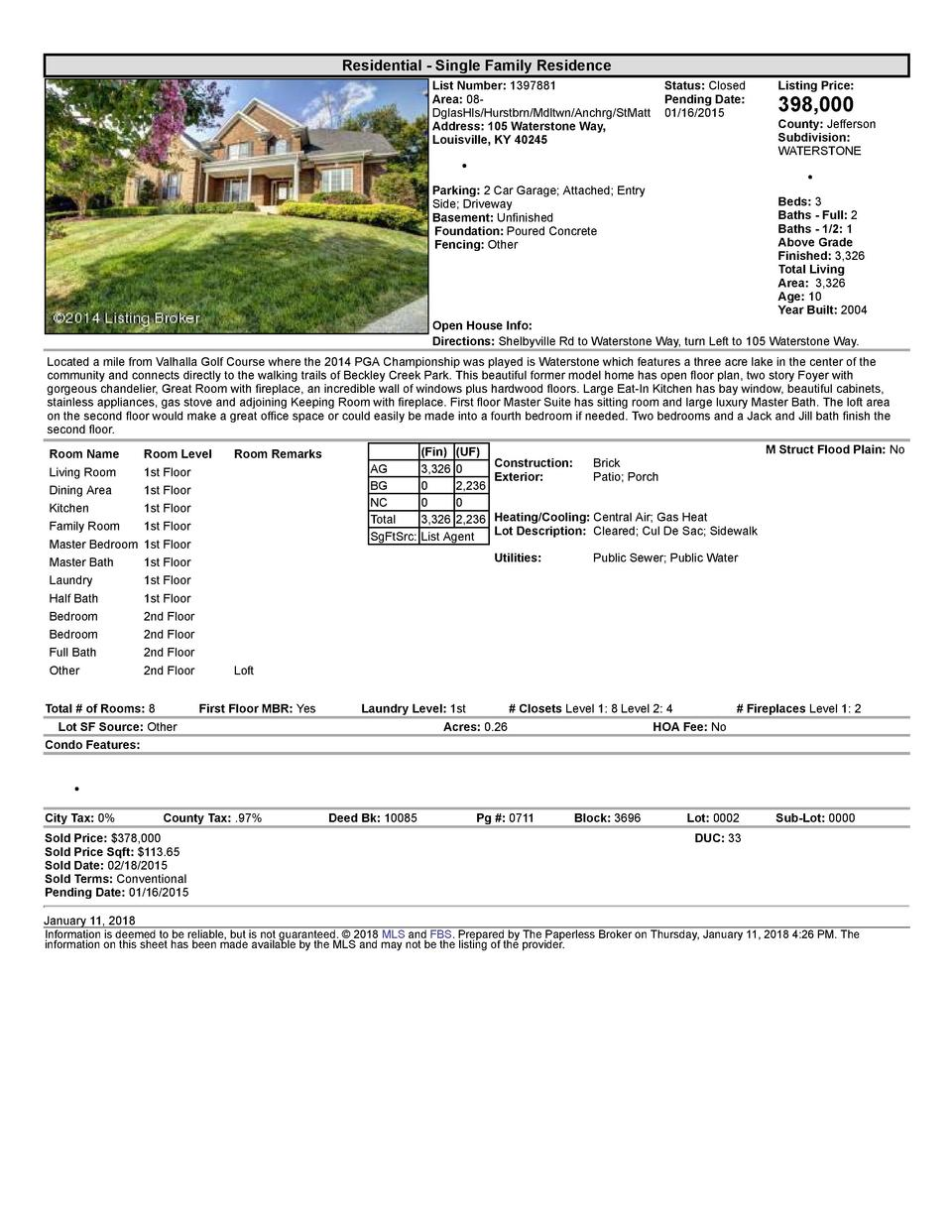 Residential      Single  Family  Residence List  Number   1397881    Status   Closed Area   08   Pending  Date  DglasHl...