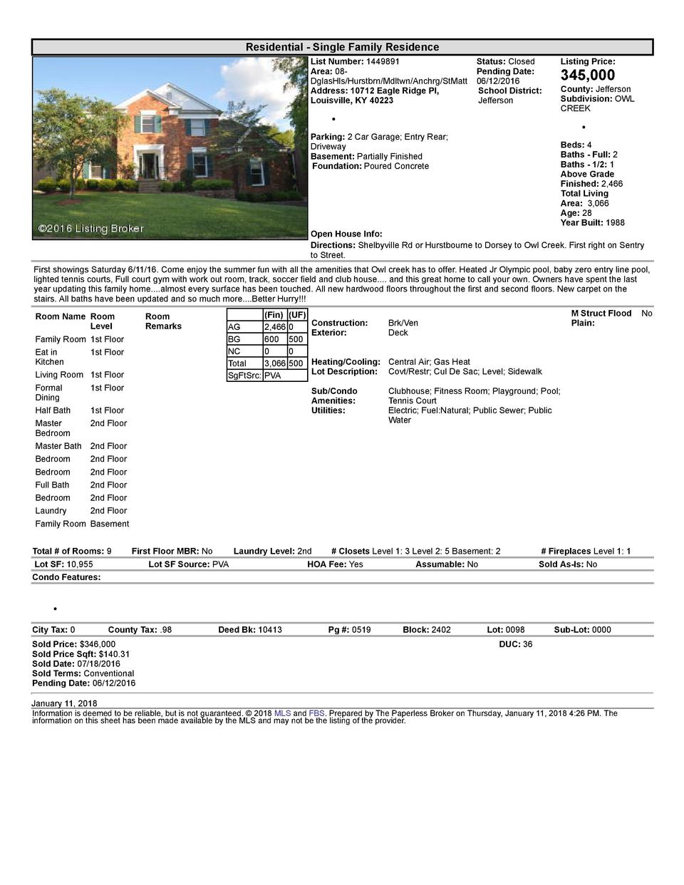 Residential      Single  Family  Residence List  Number   1449891    Status   Closed Area   08   Pending  Date  DglasHl...