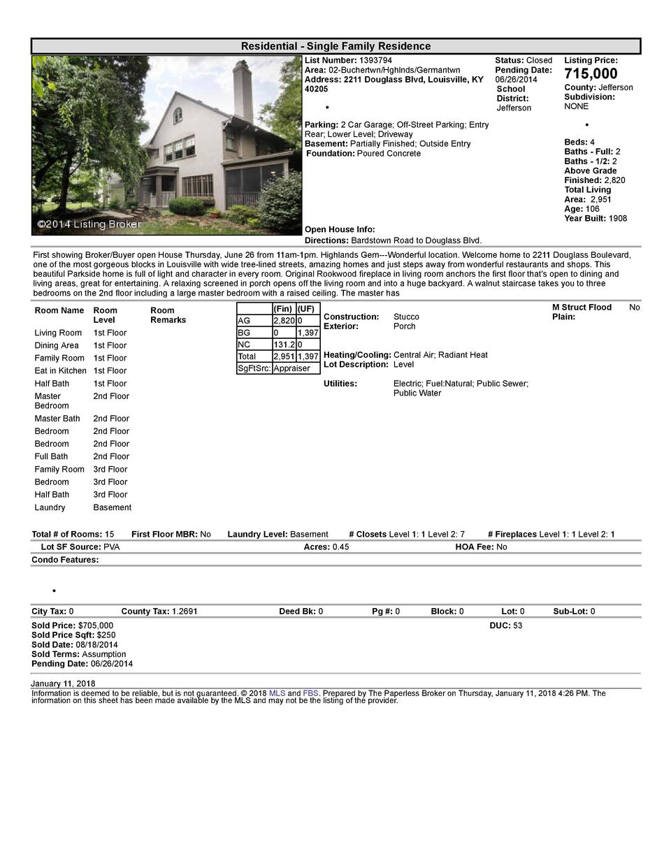 Residential      Single  Family  Residence List  Number   1393794    Status   Closed Area   02  Buchertwn Hghlnds Germa...
