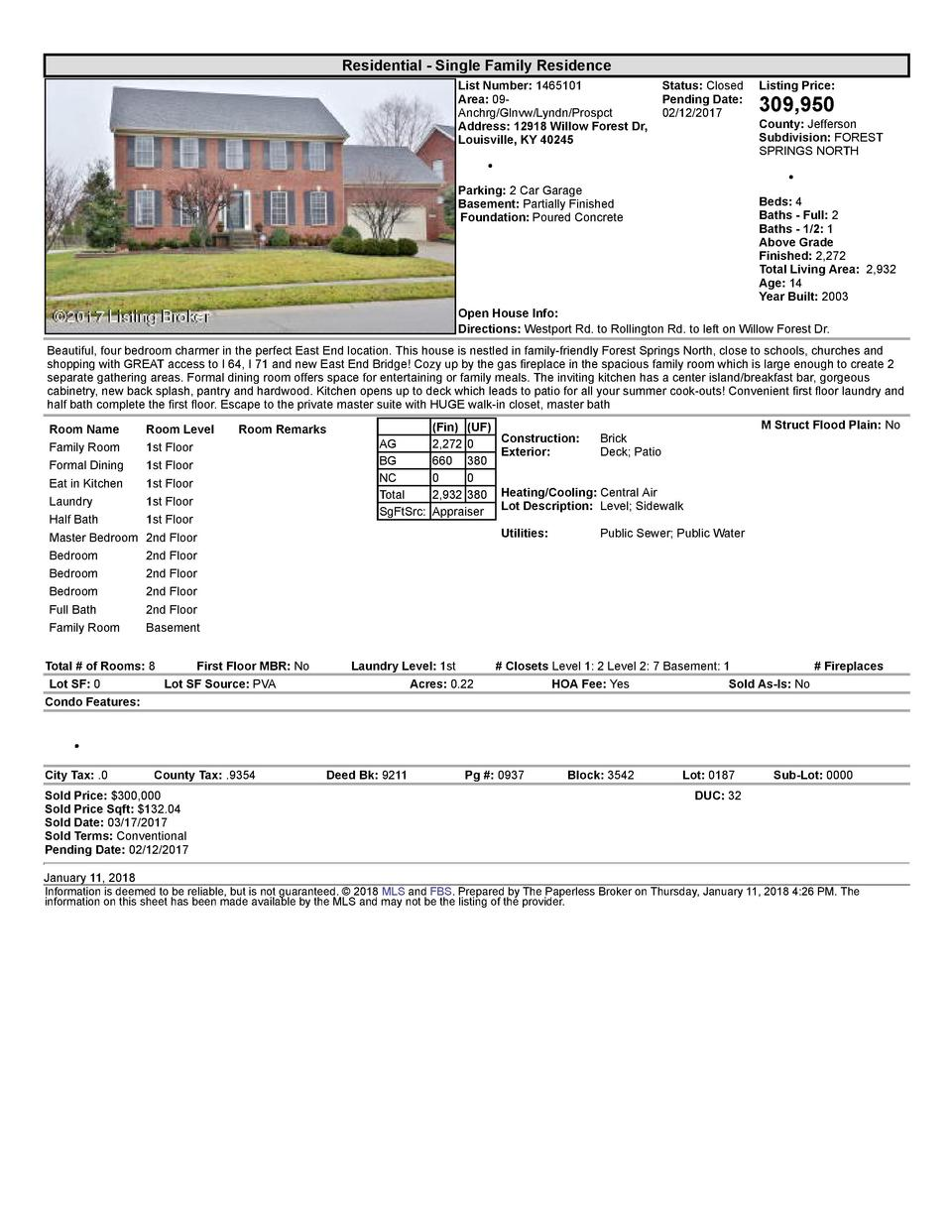 Residential      Single  Family  Residence List  Number   1465101    Status   Closed Area   09   Pending  Date  Anchrg ...