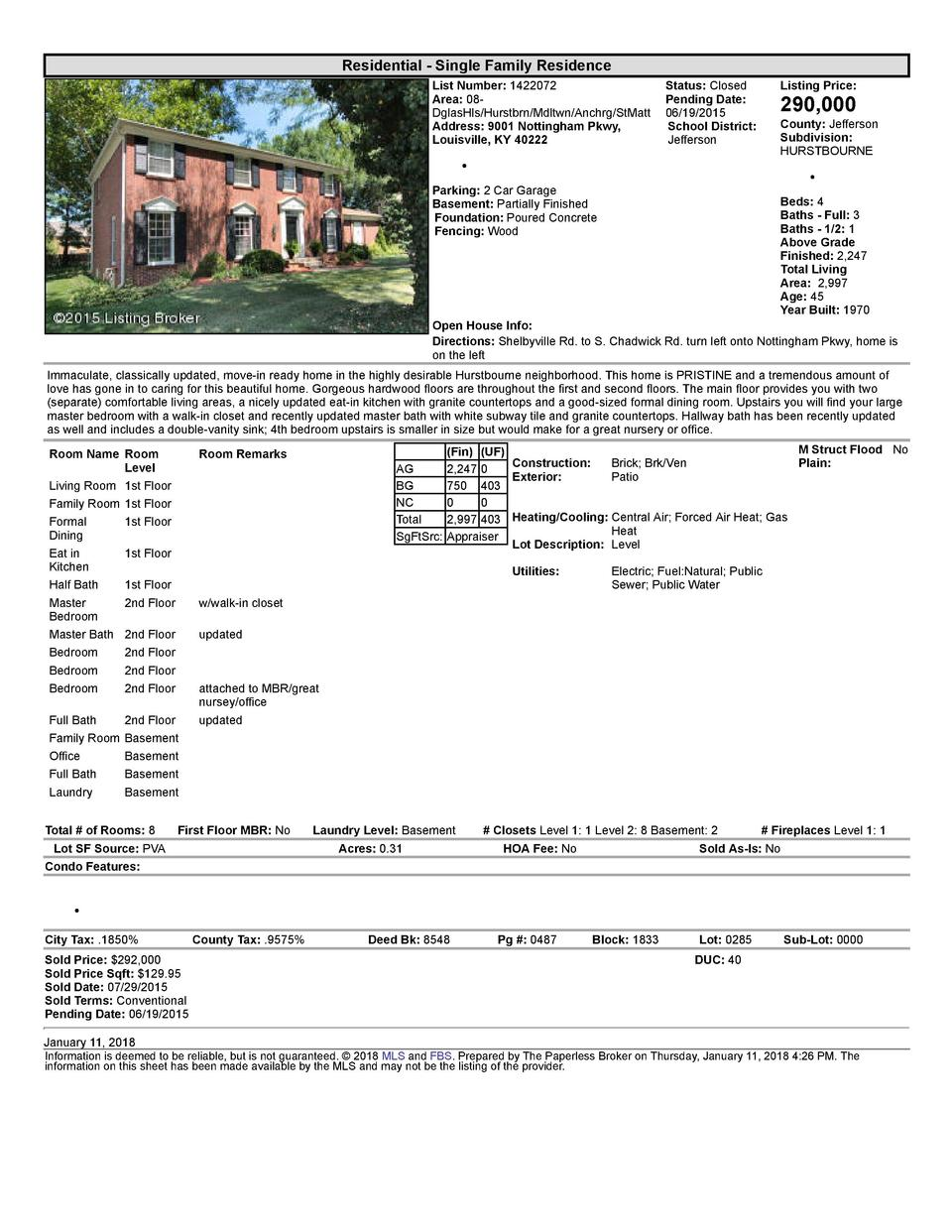 Residential      Single  Family  Residence List  Number   1422072    Status   Closed Area   08   Pending  Date  DglasHl...