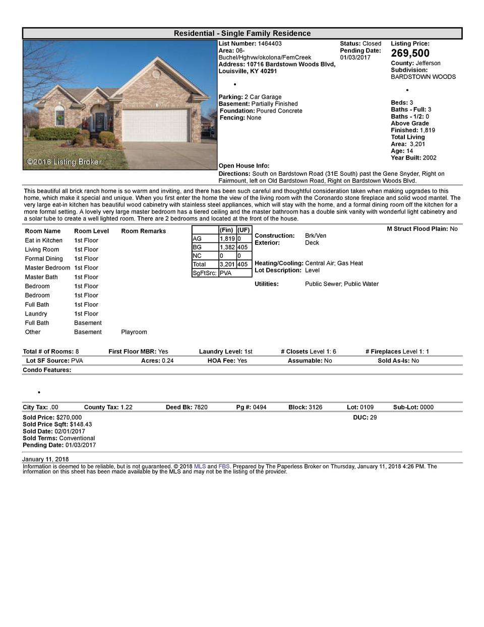 Residential      Single  Family  Residence List  Number   1464403    Status   Closed Area   06   Pending  Date  Buchel ...