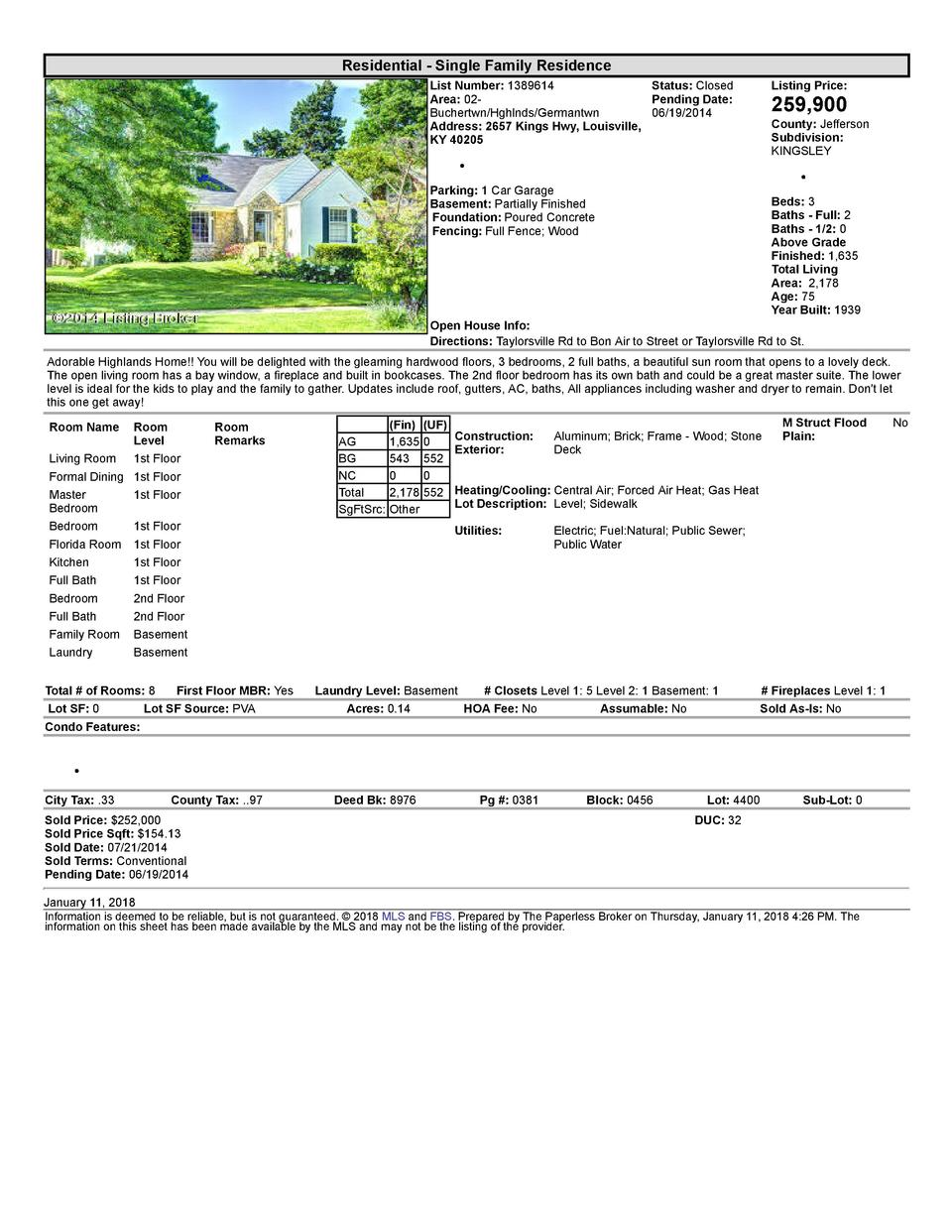 Residential      Single  Family  Residence List  Number   1389614    Status   Closed Area   02   Pending  Date  Buchert...