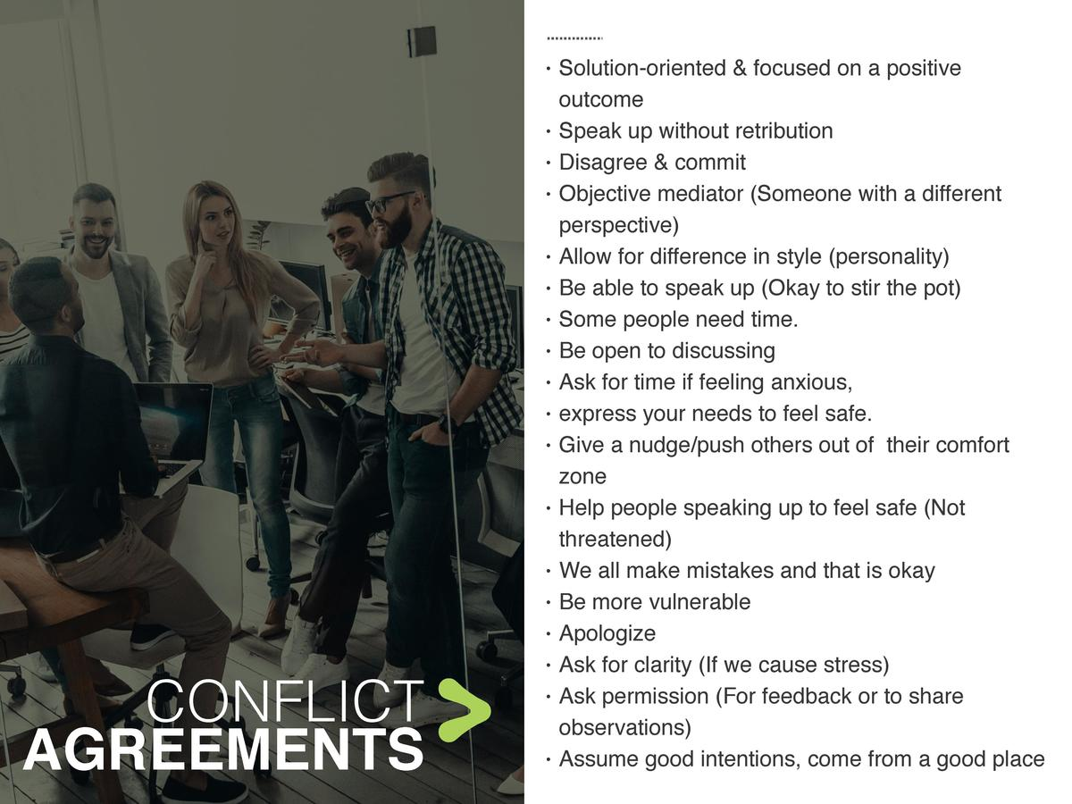 CONFLICT AGREEMENTS            Solution-oriented   fo...