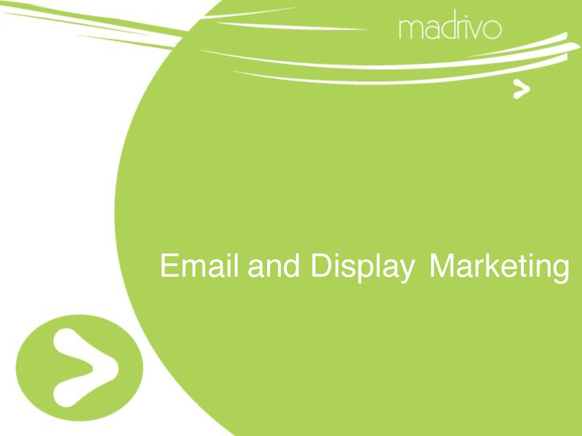 Email and Display Marketing