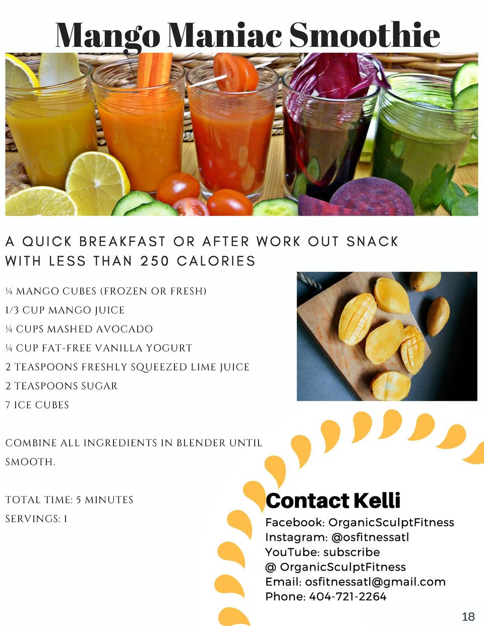 Mango Maniac Smoothie  A  QUICK  WITH  BREAKFAST  LESS  THAN  250  OR  AFTER  WORK  OUT  SNACK  CALORIES     MANGO CUBES  ...