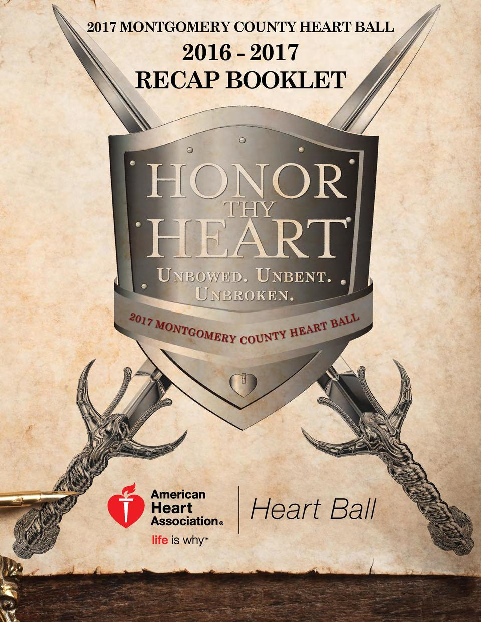 2017 MONTGOMERY COUNTY HEART BALL  2016 - 2017 RECAP BOOKLET
