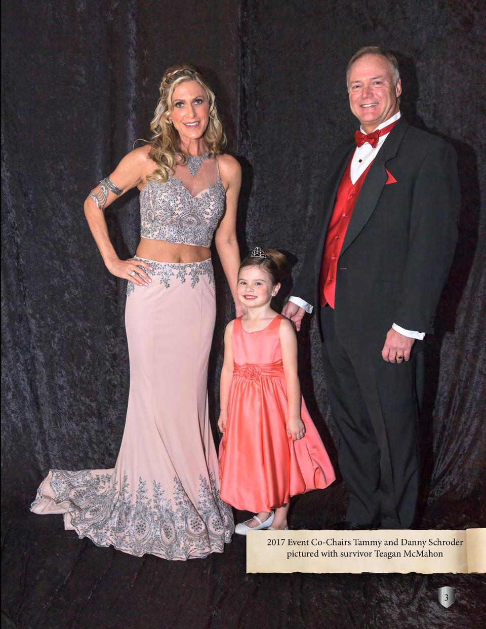 2017 Event Co-Chairs Tammy and Danny Schroder pictured with survivor Teagan McMahon  3