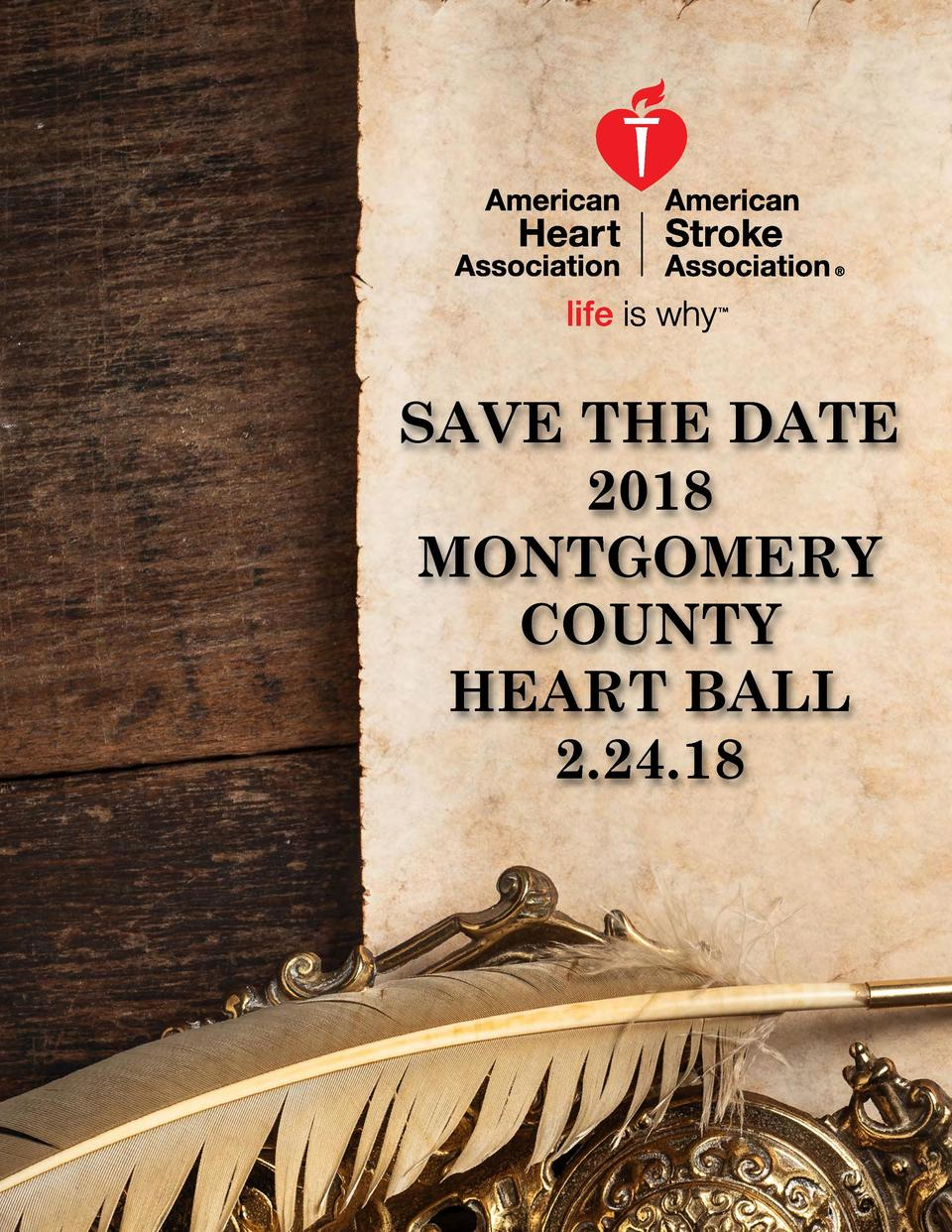 SAVE THE DATE 2018 MONTGOMERY COUNTY HEART BALL 2.24.18