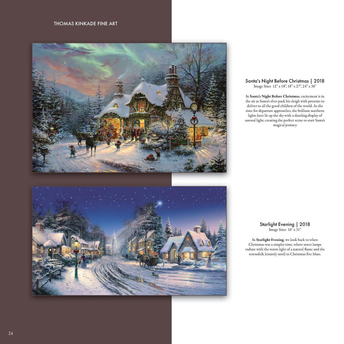 Thomas Kinkade Santa/'s Special Delivery 12 x 16 S//N LE Paper Lionel Train