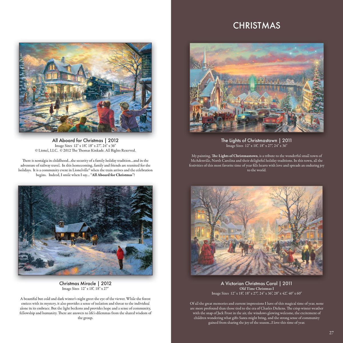Thomas Kinkade Santa/'s Workshop 12 x 18 S//N Limited Edition Paper
