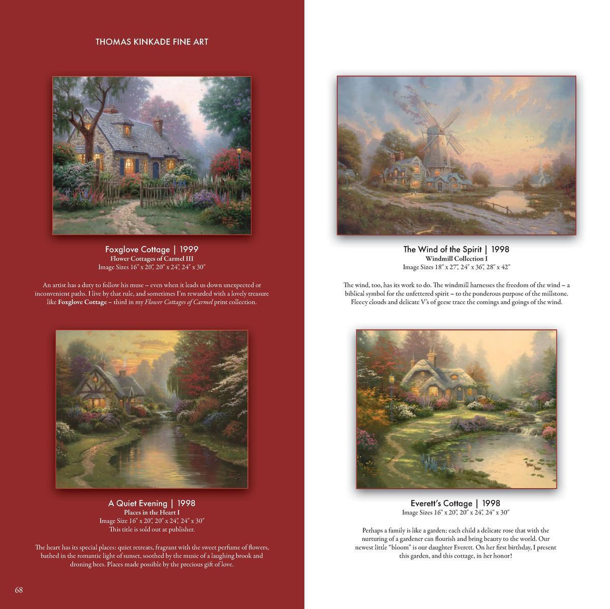 Thomas Kinkade Everett/'s Cottage 16 x 20 Brushstroke Vignette Choice of Frame