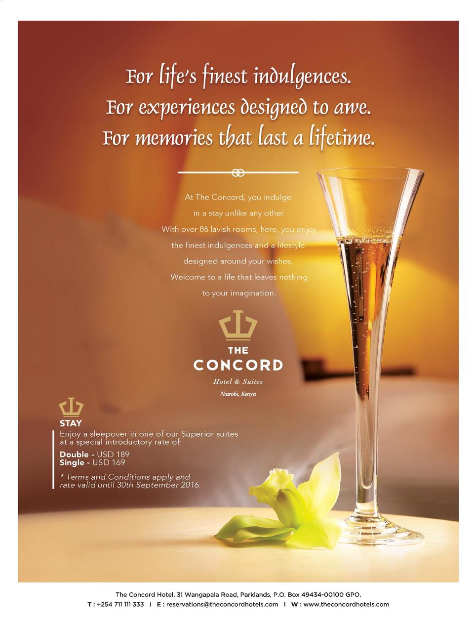 At The Concord, you indulge in a stay unlike any other. With over 86 lavish rooms, here, you enjoy the finest indulgences ...