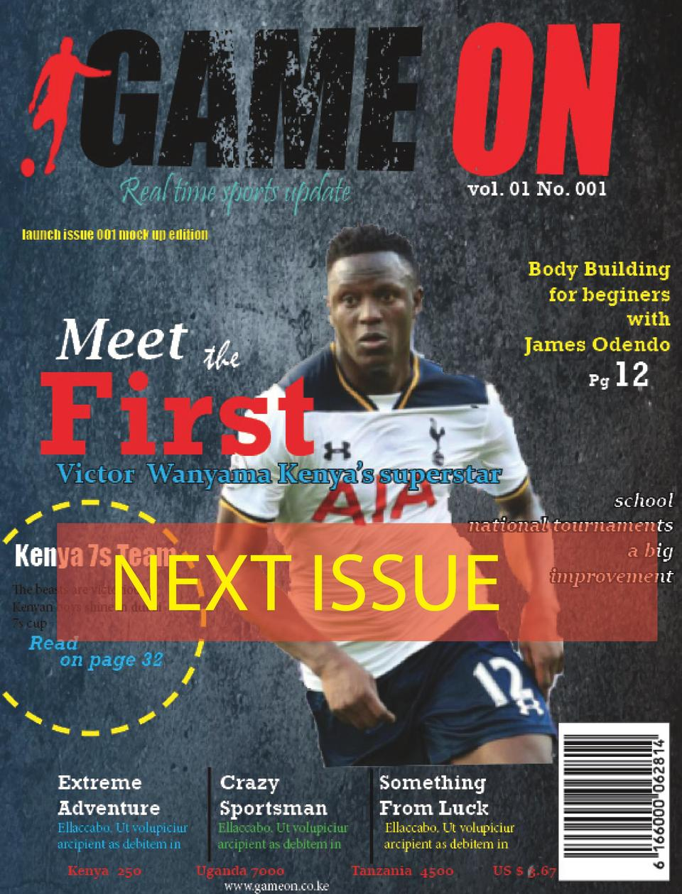 NEXT ISSUE  Game On  Real time Sports  52