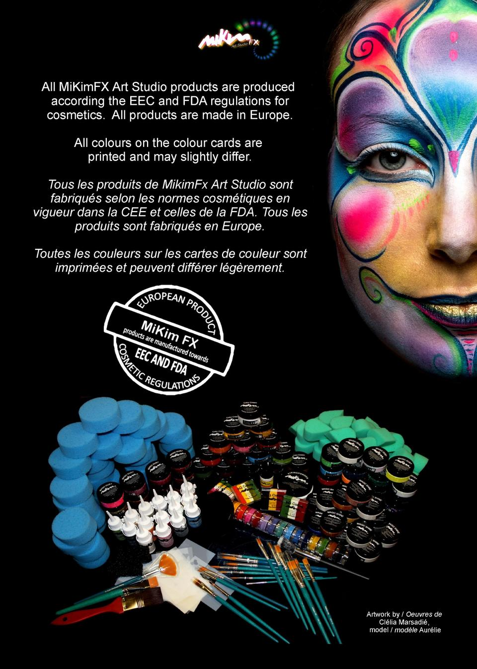 All MiKimFX Art Studio products are produced according the EEC and FDA regulations for cosmetics. All products are made in...
