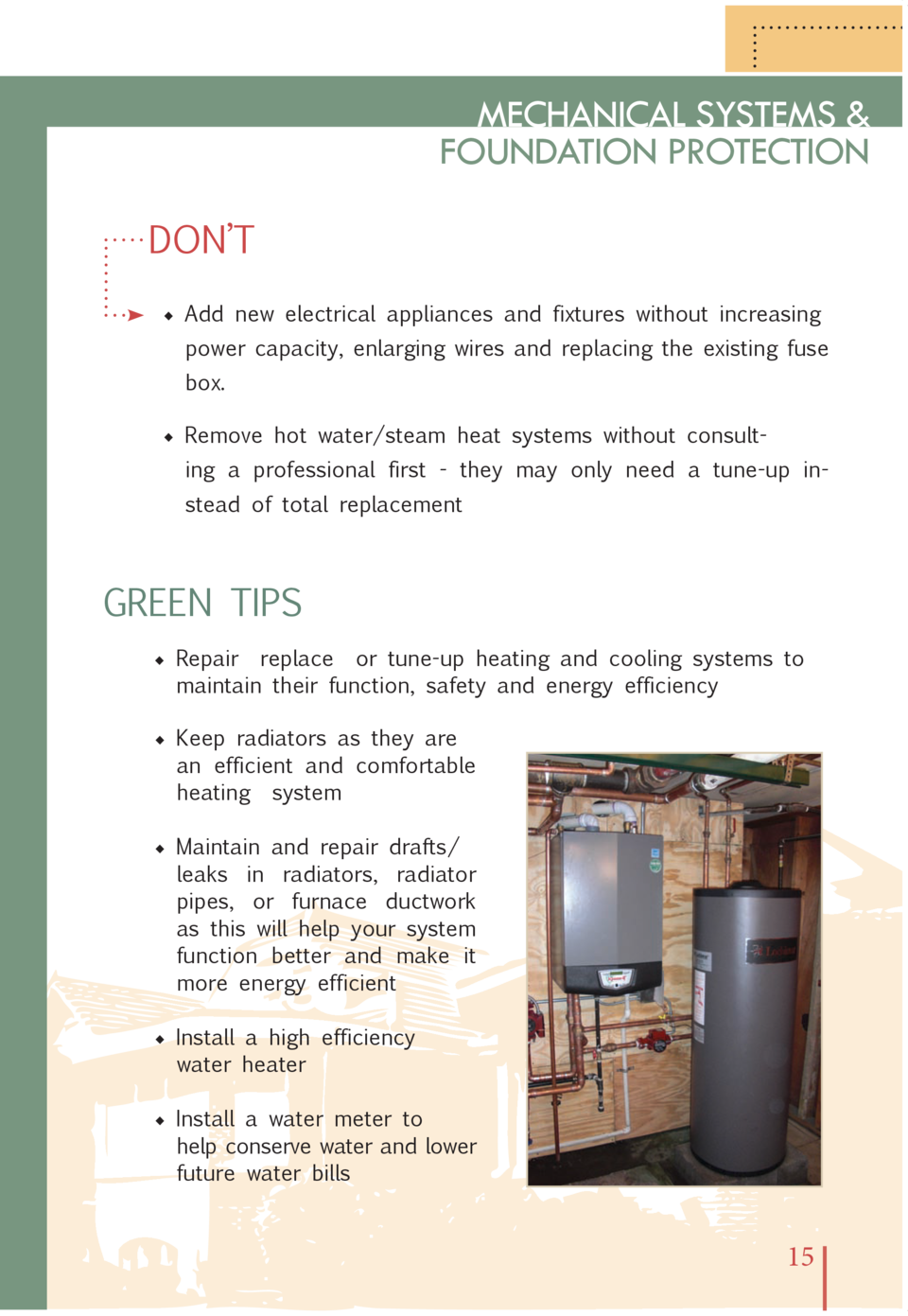 Bungalow Design Guidelines Hot Water Heater Fuse Box