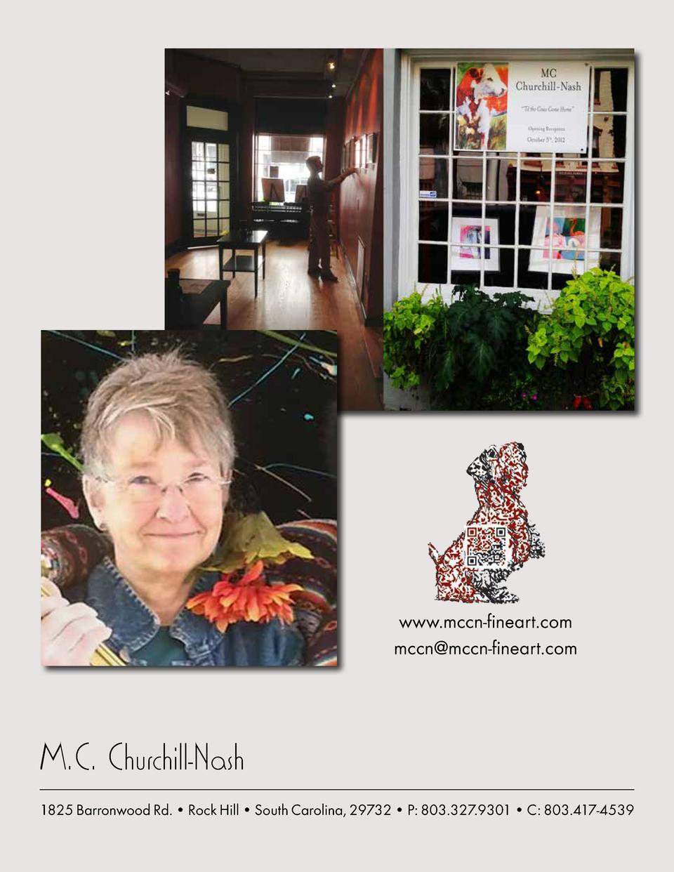 www.mccn-fineart.com mccn mccn-fineart.com  M.C. Churchill-Nash 1825 Barronwood Rd.     Rock Hill     South Carolina, 2973...