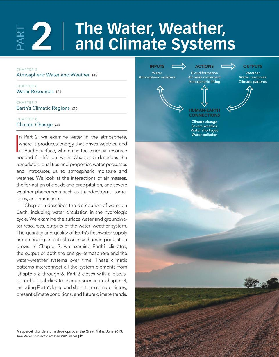 Part  140  Elemental Geosystems  2  The Water, Weather, and Climate Systems  Chapter 5  Atmospheric Water and Weather    1...