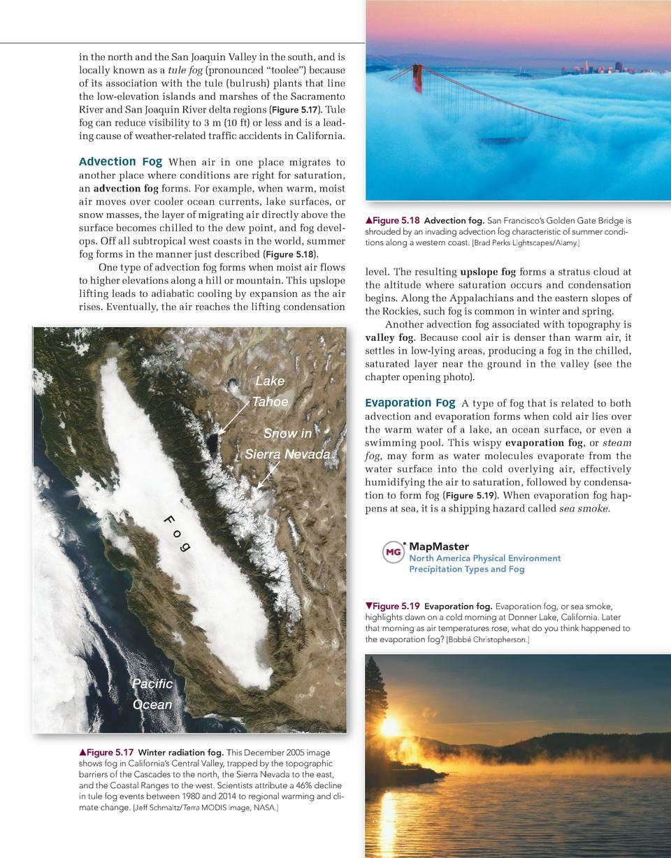 Chapter 5    Atmospheric Water and Weather             157  in the north and the San Joaquin Valley in the south, and is l...