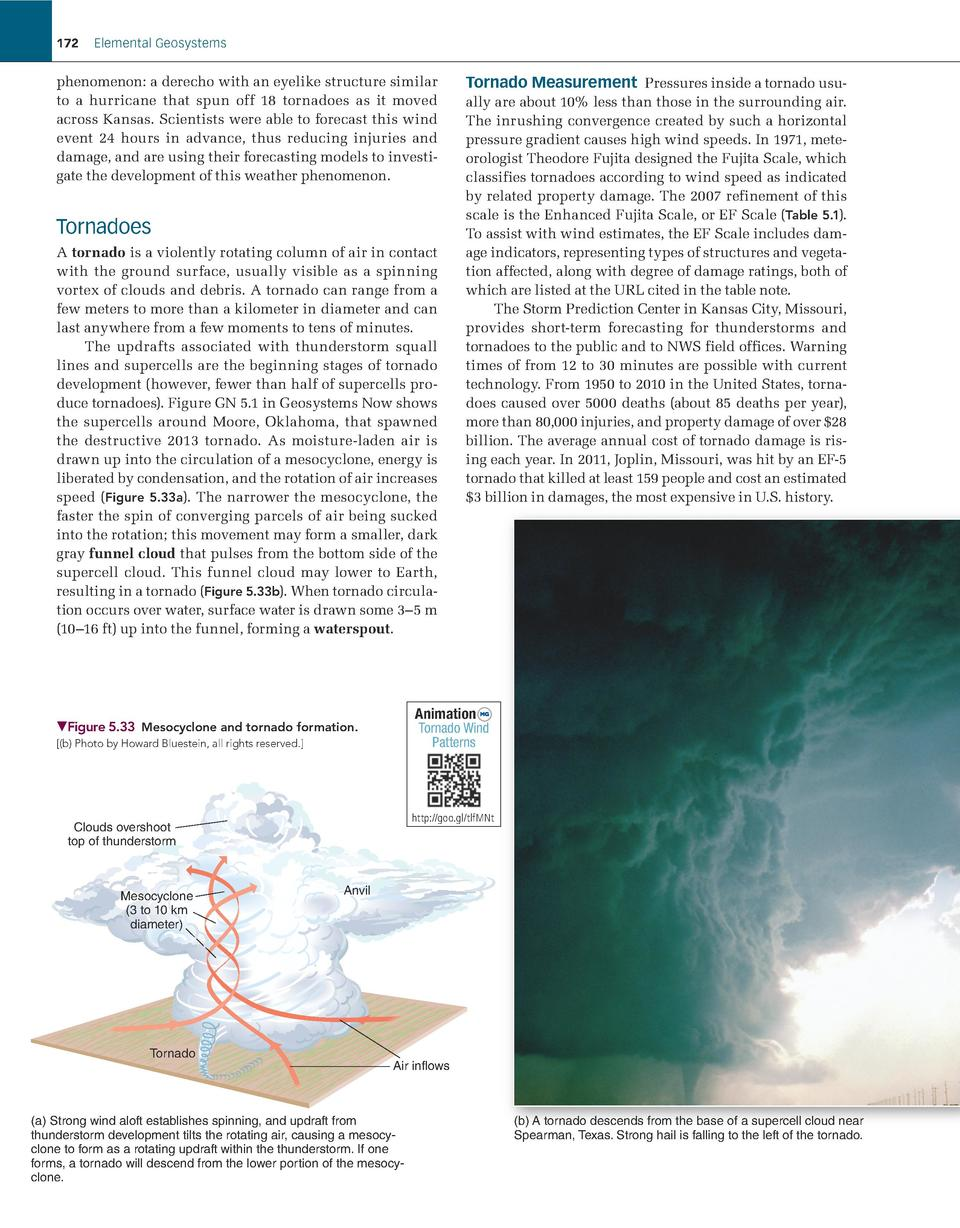 172  Elemental Geosystems     henomenon  a derecho with an eyelike structure   similar p to a hurricane that spun off 18 t...