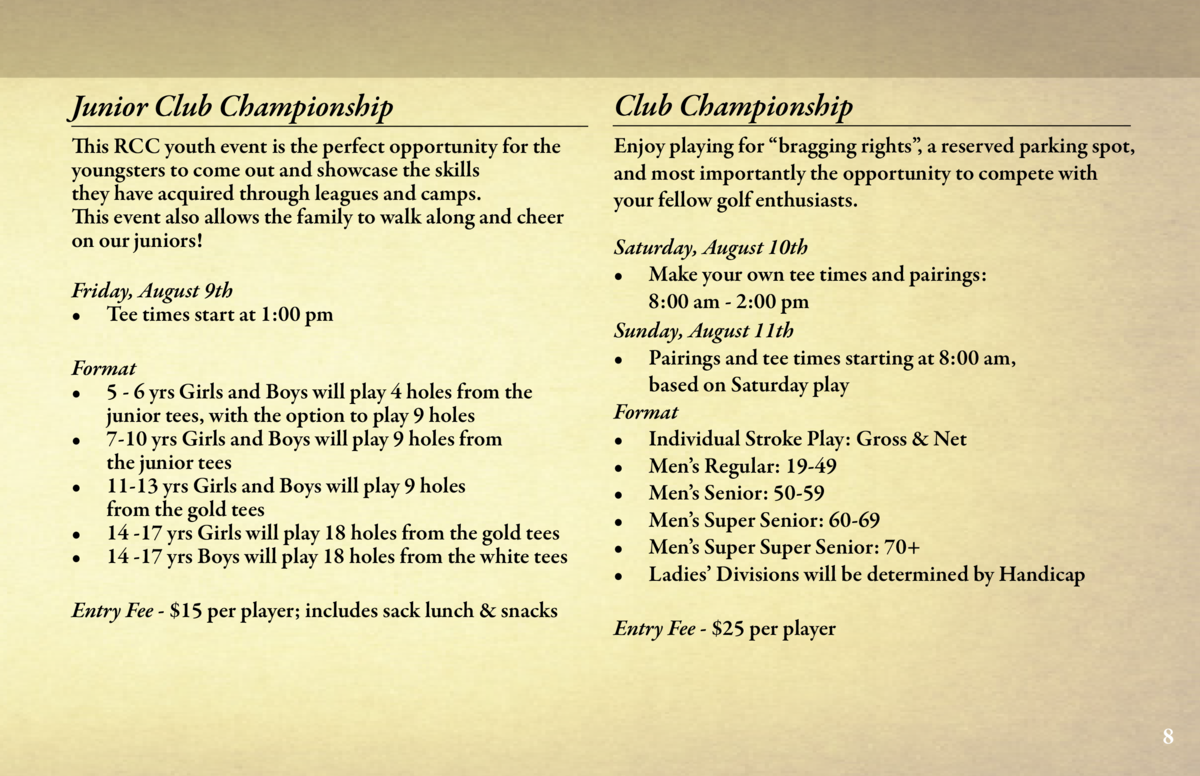 Tournaments  Ladies Open Invitational  Calling all lady golfers  Riverside Country Club cordially invites you to join us f...