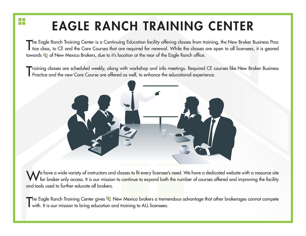 EAGLE RANCH TRAINING CENTER  T  he Eagle Ranch Training Center is a Continuing Education facility offering classes from tr...
