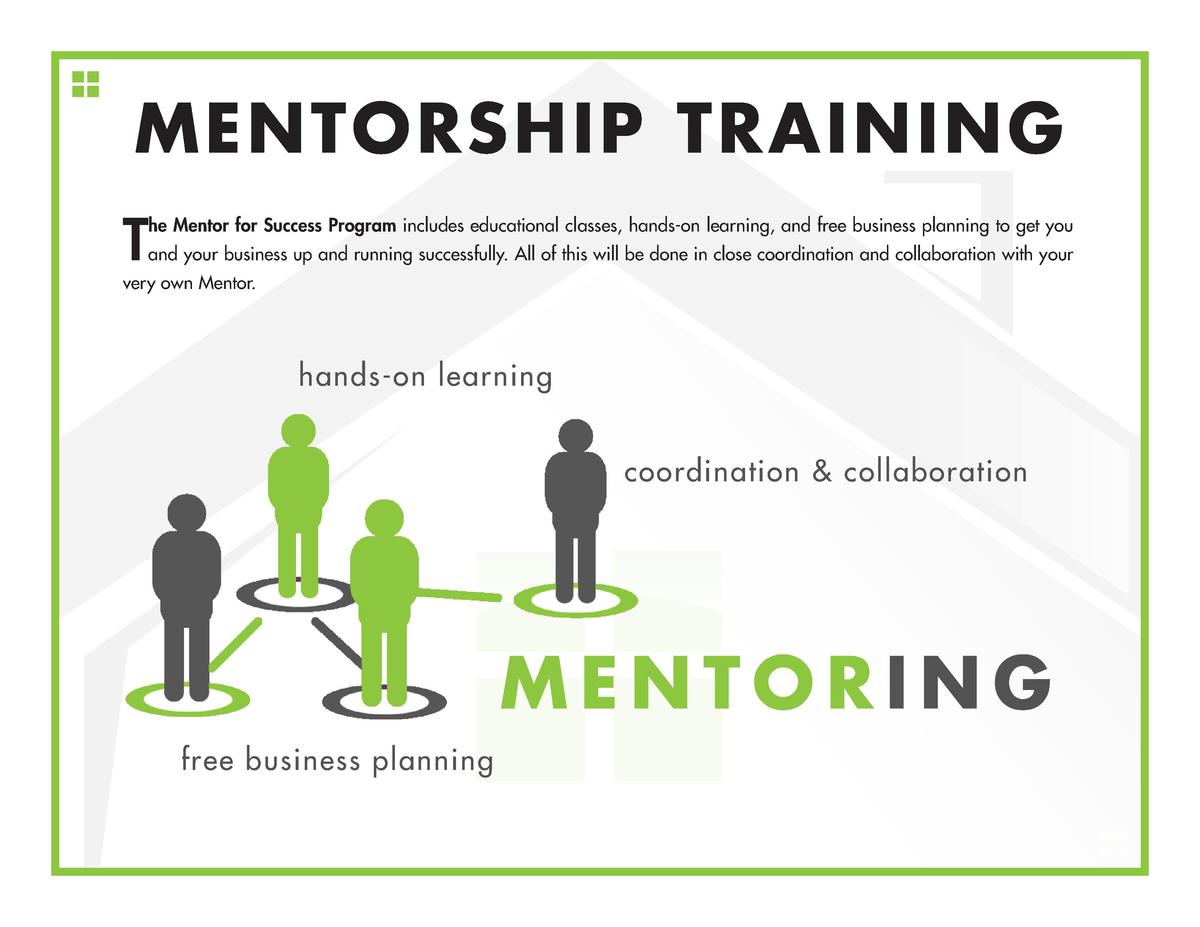 MENTORSHIP TRAINING T  he Mentor for Success Program includes educational classes, hands-on learning, and free business pl...