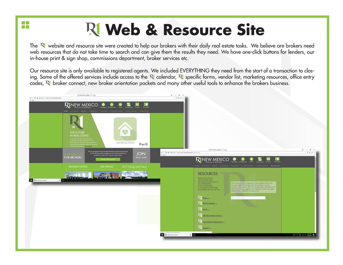 Web   Resource Site The website and resource site were created to help our brokers with their daily real estate tasks. We ...