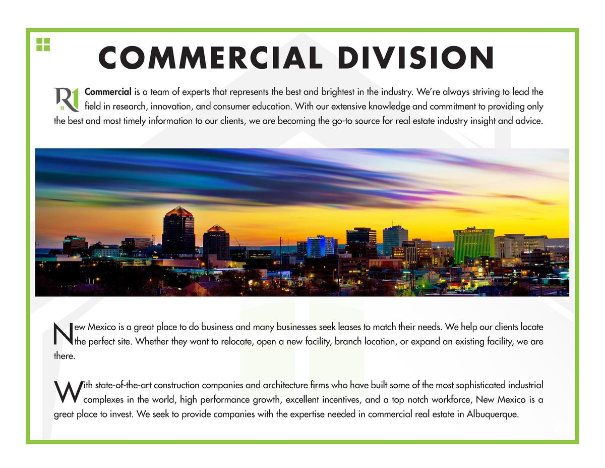 COMMERCIAL DIVISION Commercial is a team of experts that represents the best and brightest in the industry. We   re always...