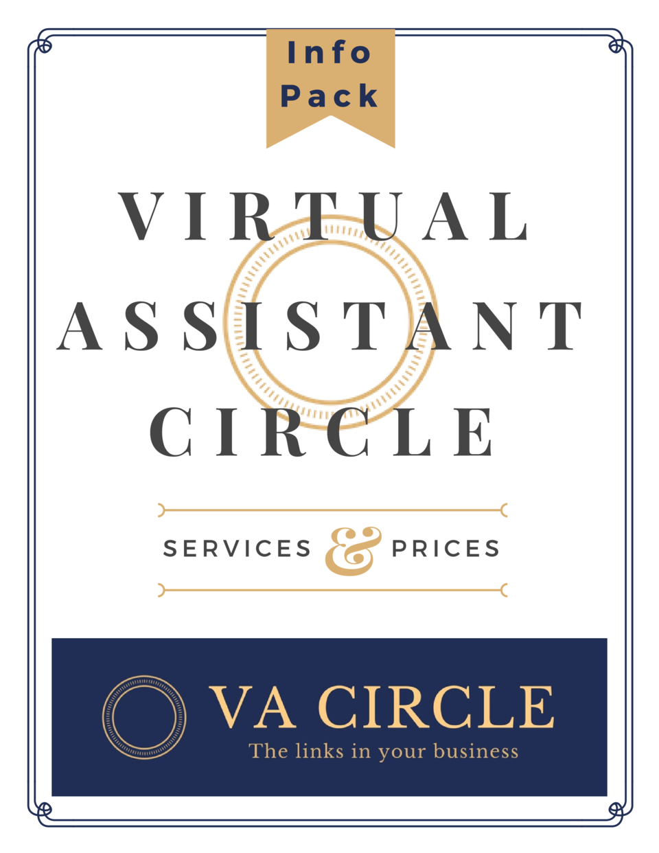 Info Pack  VIRTUAL ASSISTANT CIRCLE SERVICES     PRICES