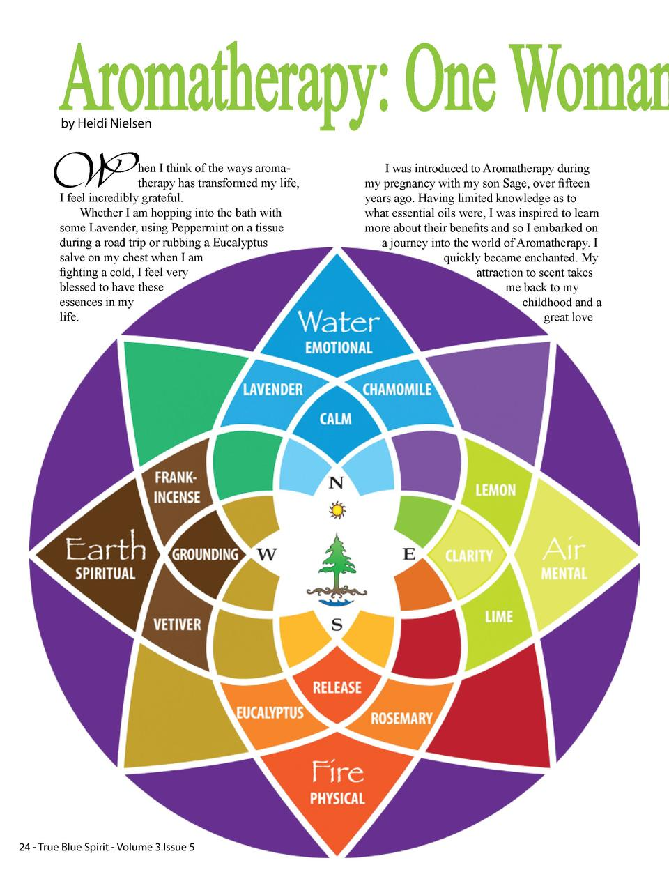 Aromatherapy  One Woman by Heidi Nielsen  W  hen I think of the ways aromatherapy has transformed my life, I feel incredib...