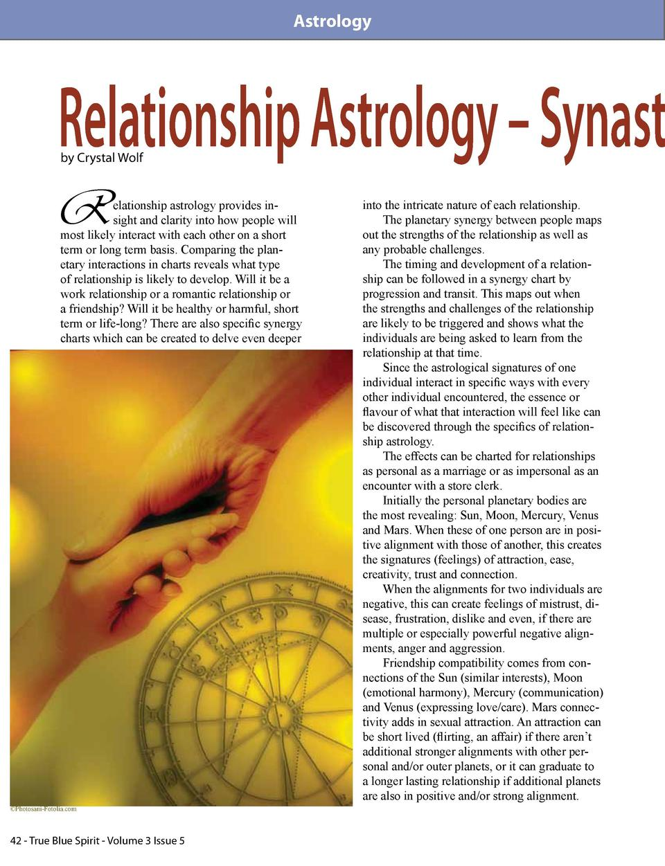 Astrology  Relationship Astrology     Synast by Crystal Wolf  R  elationship astrology provides insight and clarity into h...