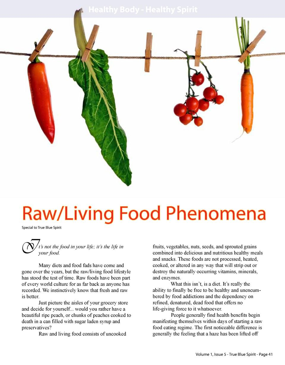 Healthy Body - Healthy Spirit  ko   Rade Lu olia.com vic-Fot  Raw Living Food Phenomena Special to True Blue Spirit  I  t ...
