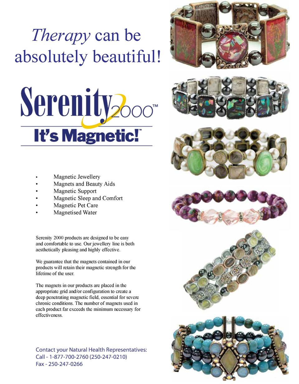 Therapy can be absolutely beautiful                            Magnetic Jewellery Magnets and Beauty Aids Magnetic Support...