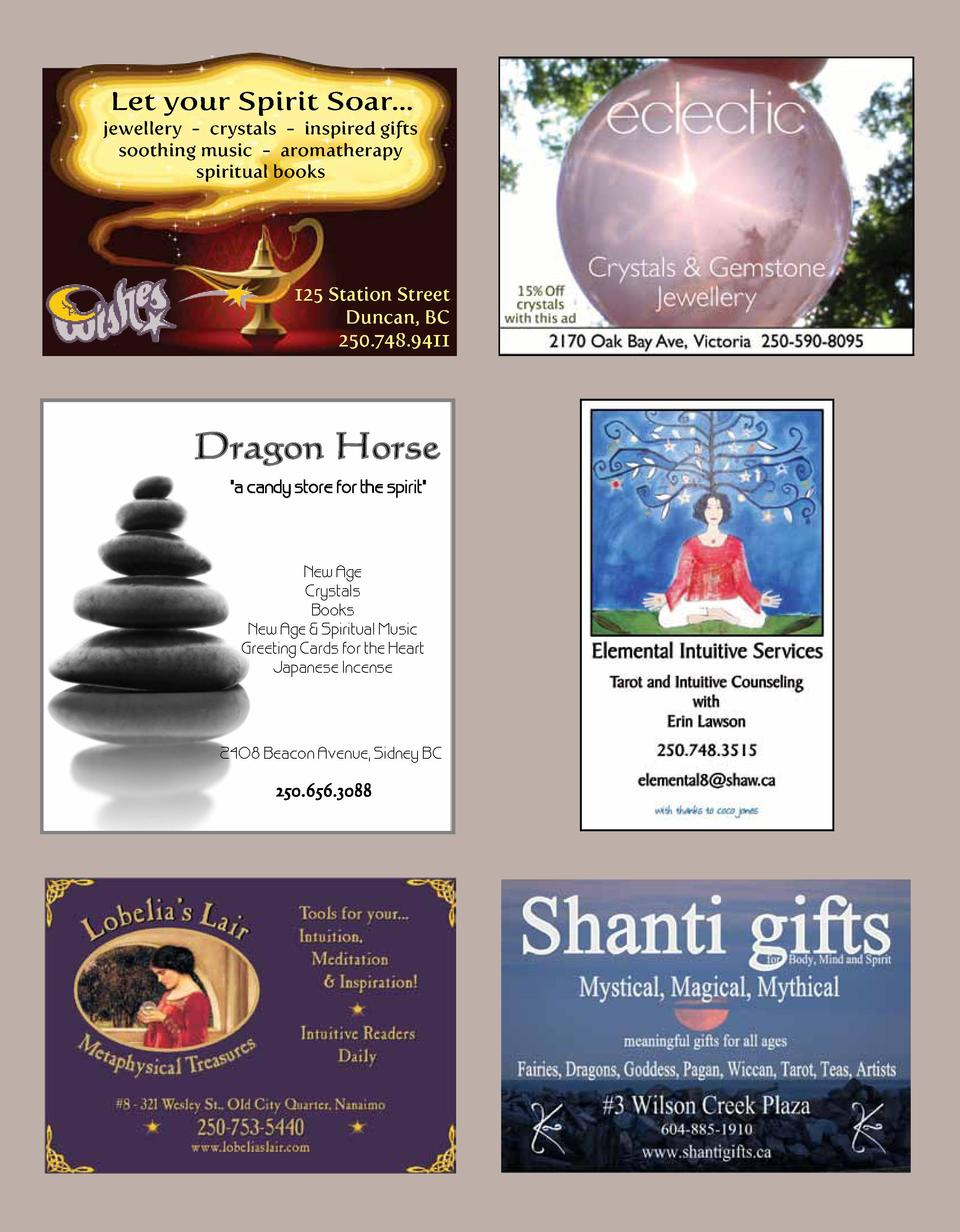 Let your Spirit Soar... jewellery - crystals - inspired gifts soothing music - aromatherapy spiritual books  125 Station S...
