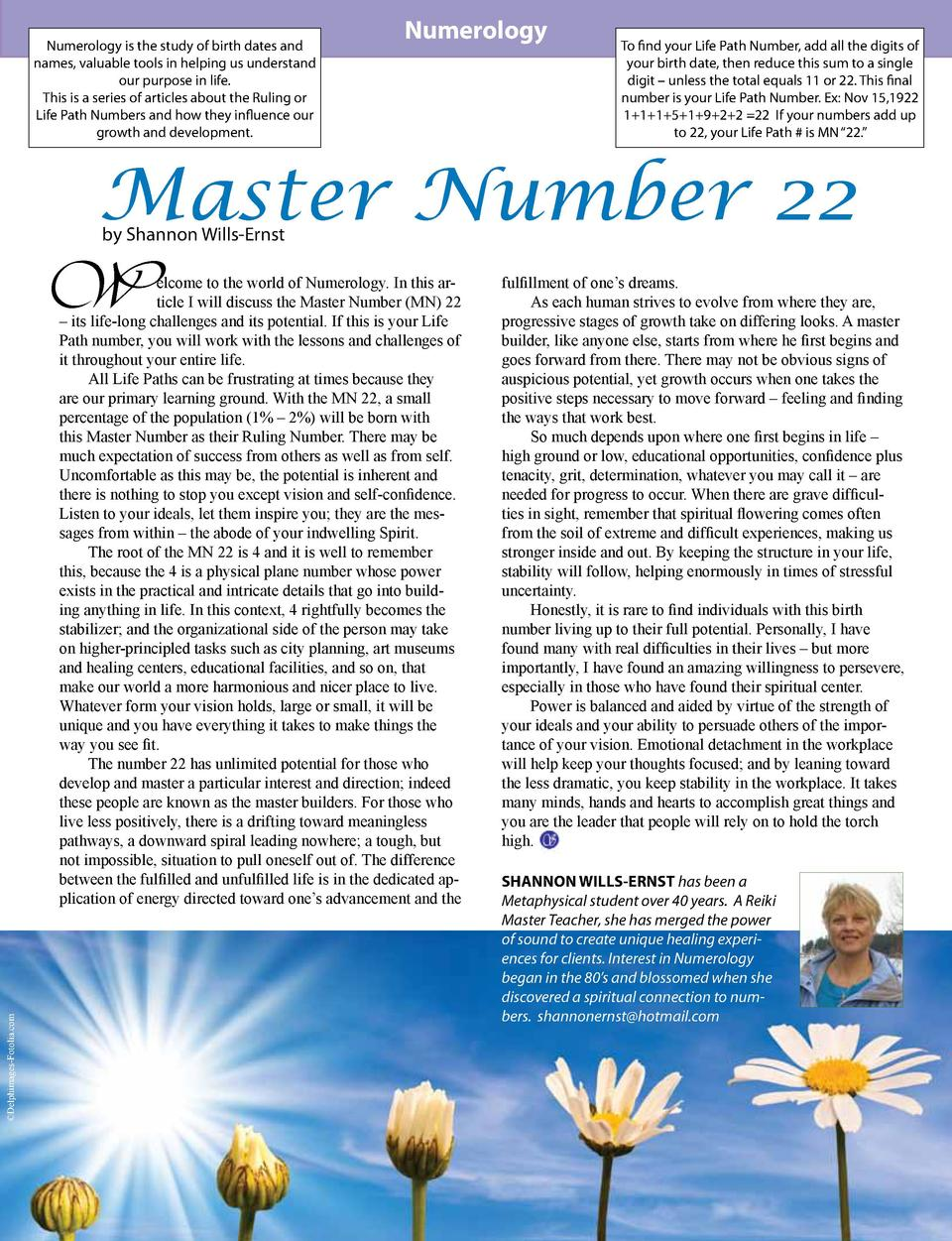 Numerology is the study of birth dates and names, valuable tools in helping us understand our purpose in life. This is a s...