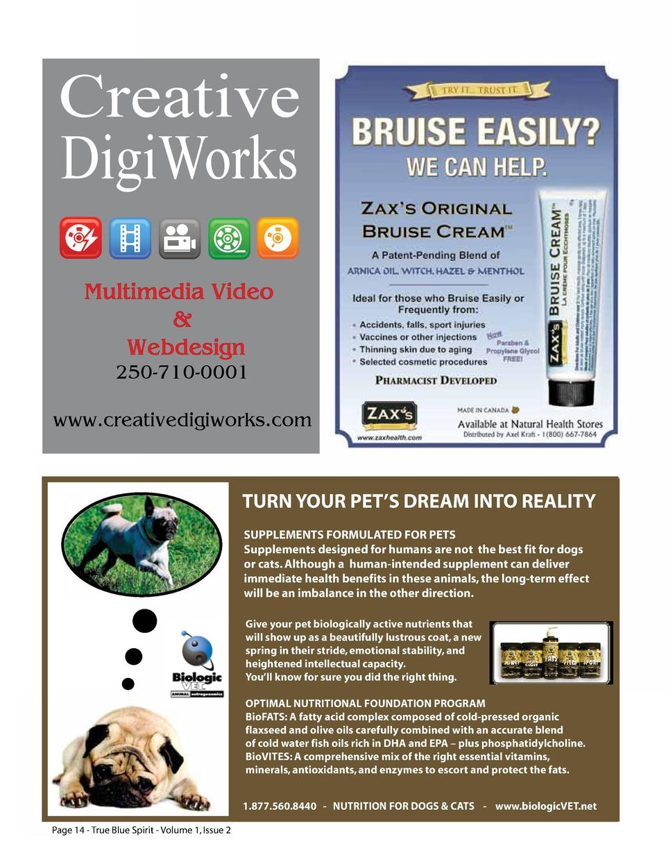 Creative DigiWorks Multimedia Video   Webdesign 250-710-0001  www.creativedigiworks.com  TURN YOUR PET   S DREAM INTO REAL...